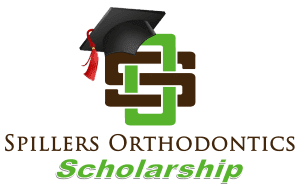 Spillers Orthodontics Scholarship logo, spillers logo with graduation cap on top