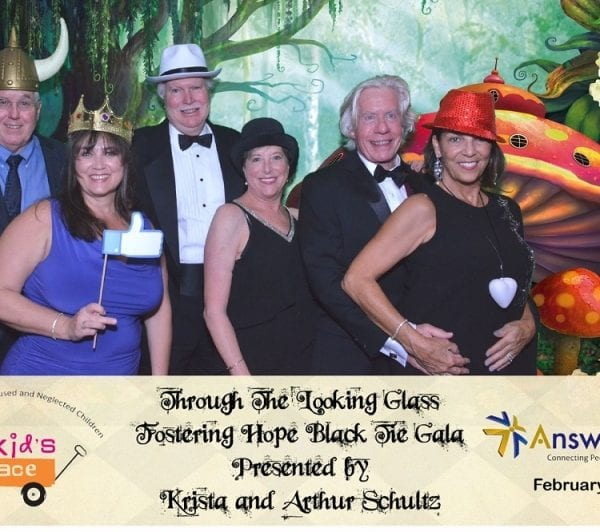 """Through the Looking Glass """"Fostering Hope"""" Black Tie Gala Presented by Krista and Arthur Schultz"""