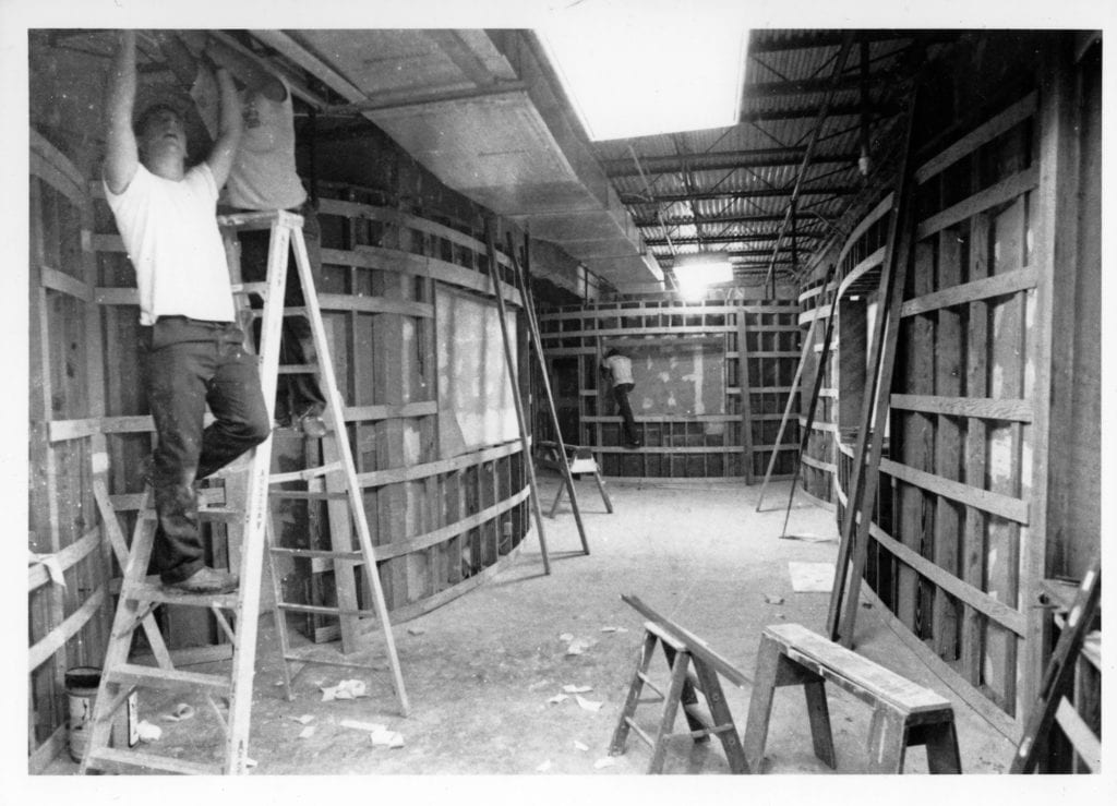 Construction of the Harry Waugh Dessert Room