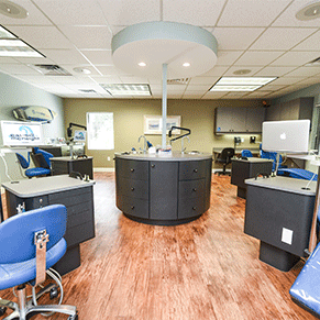 Caudill & McNeight Orthodontics, Melbourne exam room, office